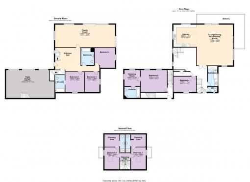 7 bedroom detached house for sale Floorplan