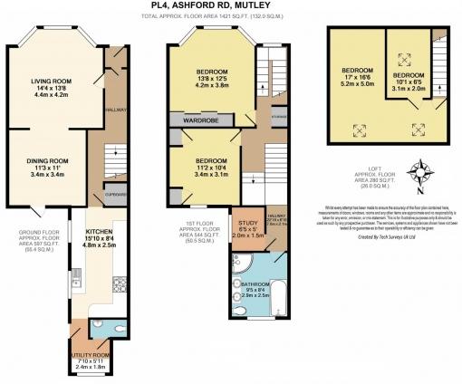3 bedroom terraced house for sale Floorplan